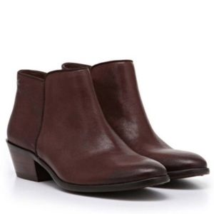 Anthropologie Petty Brown Leather Ankle Boots 8.5